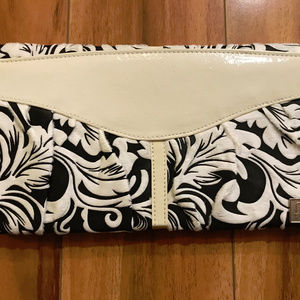 Miche Black And White Patterned Fuzzy Shell Purse